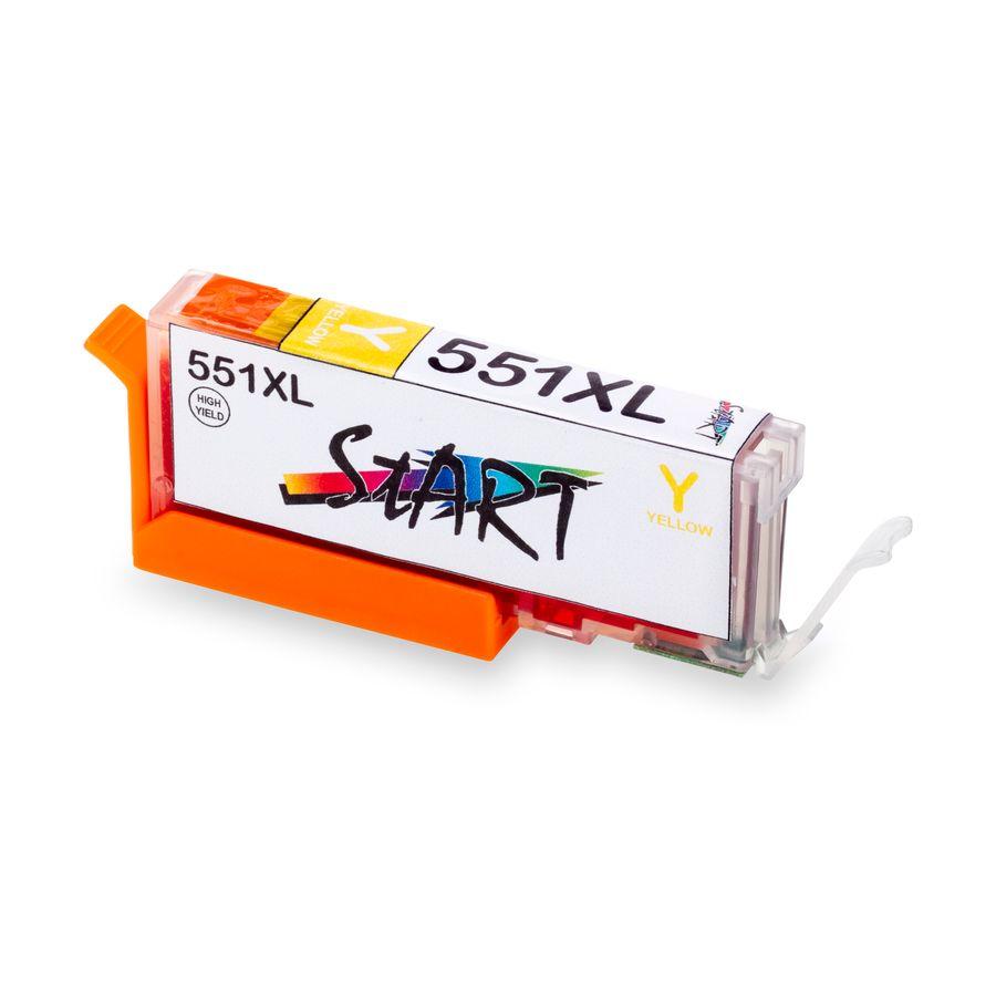 5 XL Ersatz Chip Patronen kompatibel zu Canon PGI-550BK XL Schwarz, CLI-551BK XL Foto-Schwarz, CLI-551C XL Cyan, CLI-551M XL Magenta, CLI-551Y XL Gelb