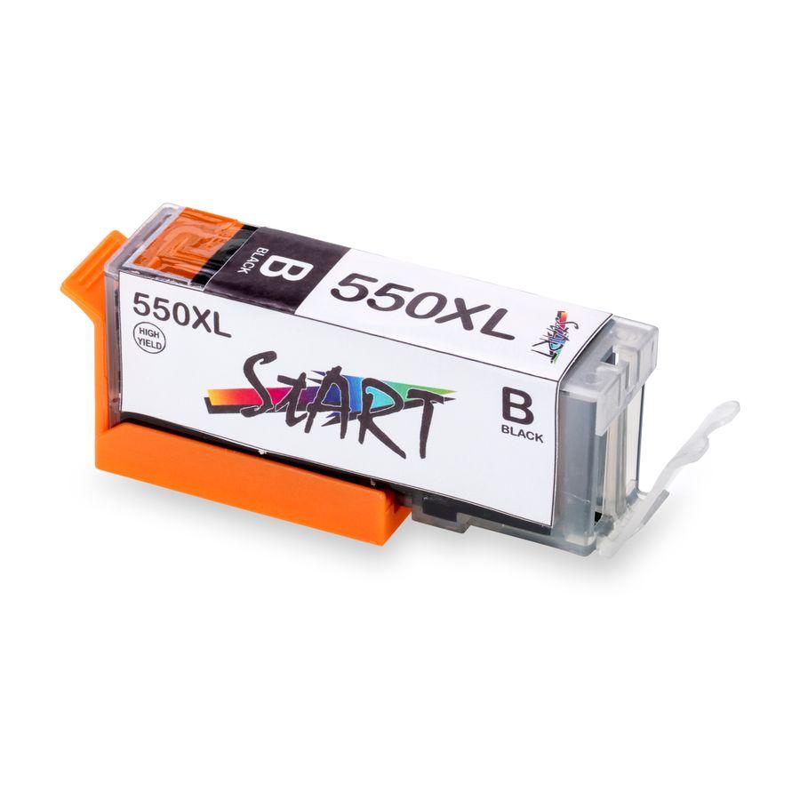 3 XL Ersatz Chip Patronen kompatibel zu Canon PGI-550BK PGI-550PGBK XL Schwarz, PGI 550 PG BK