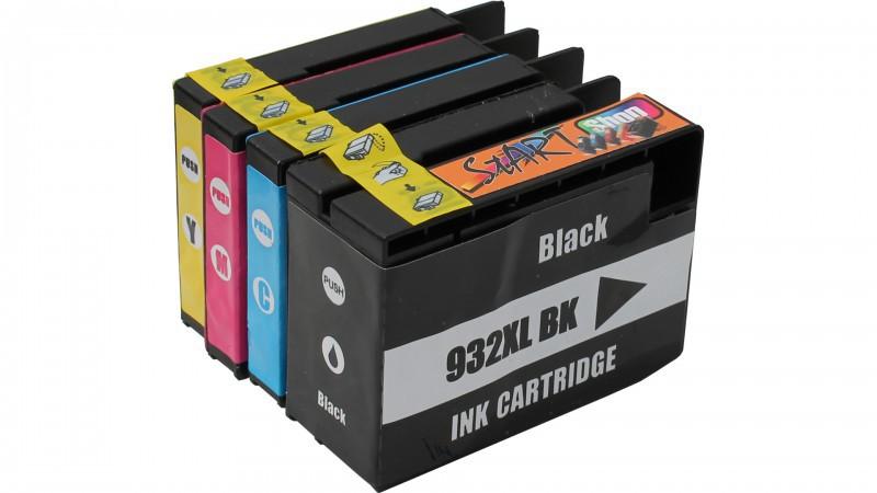 4 XL Ersatz Chip Druckerpatronen kompatibel zu HP 932XL / HP 933XL Schwarz, Cyan, Magenta, Gelb