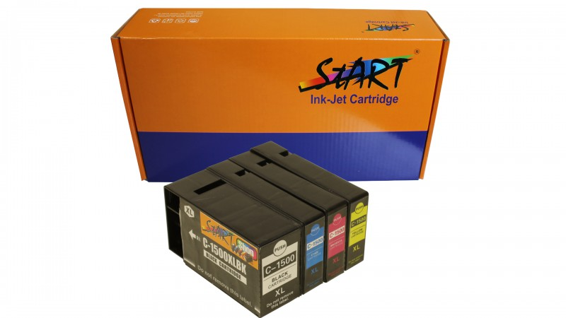 4 Compatible Ink Cartridges to Canon PGI-1500 (XL)  (BK, C, M, Y)
