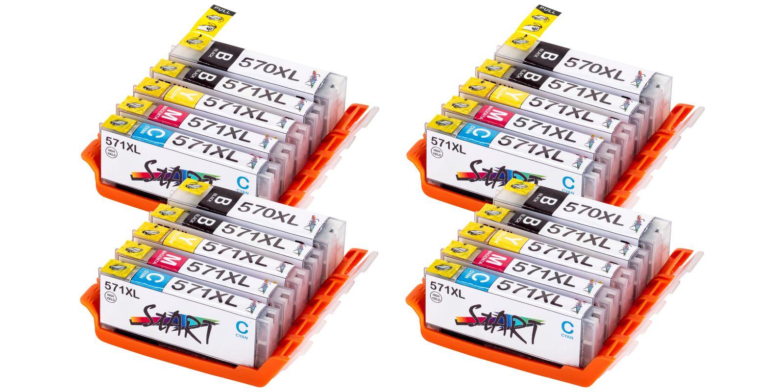 20 Compatible Ink Cartridges to Canon PGI-570 / CLI-571  (BK, PHBK, C, M, Y) XL