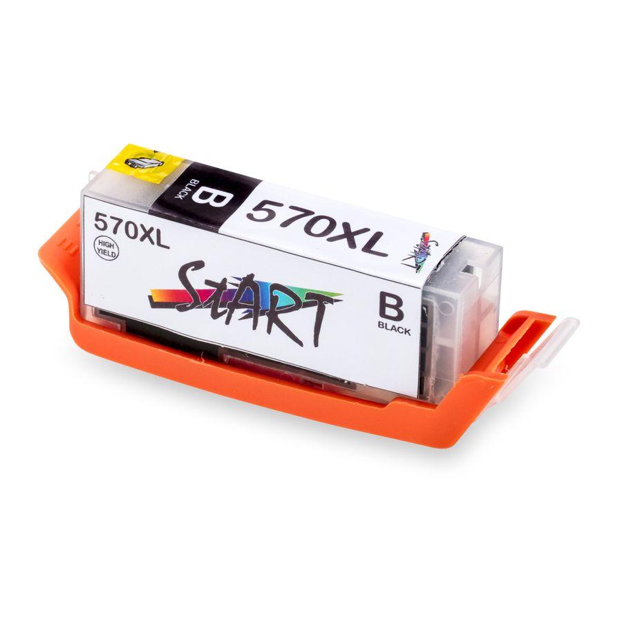 5 XL Ersatz Chip Patronen kompatibel zu Canon PGI-570 PGBK XL Schwarz, CLI-571BK XL Foto-Schwarz, CLI-571C XL Cyan, CLI-571M XL Magenta, CLI-571Y XL Gelb