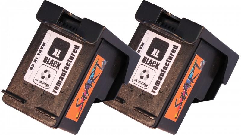2 Ersatz Tintenpatronen kompatibel zu HP 62XL Schwarz