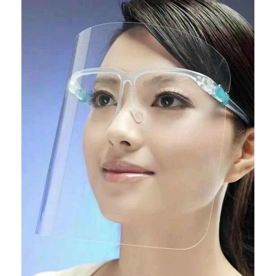Face shield Protective visor with spectacle frame