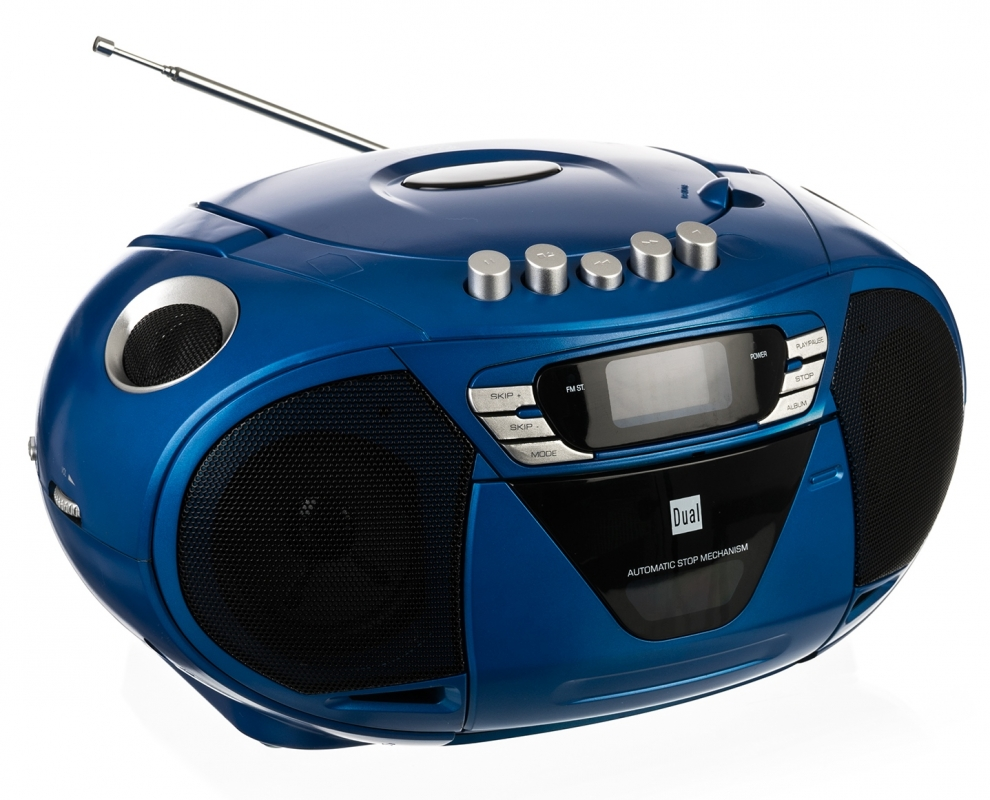 cd player mp3 cd mit kassettenfach ukw radio und aux in dual p68 blau ebay. Black Bedroom Furniture Sets. Home Design Ideas