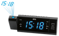 Radiowecker mit Projektion, 2 Weckzeiten, USB Wiedergabe und Ladefunktion AEG MRC 4159 P