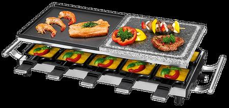 Raclette Grill für 10 Personen mit Wendegussplatte und heißem Stein Proficook PC-RG 1144 günstig online kaufen