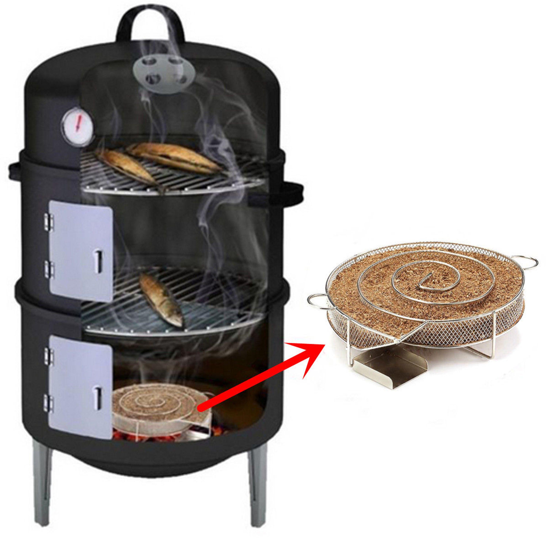 【DE】 Edelstahl BBQ Kaltraucherzeuger Kaltrauchgenerator Kalträuchern Smoker NEU