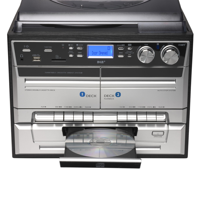 Stereoanlage mit CD, LP, Kassettenrecorder, DAB Radio, USB