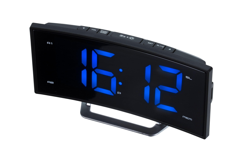 radiowecker mit ukw radio jumbo display 2 weckzeiten. Black Bedroom Furniture Sets. Home Design Ideas