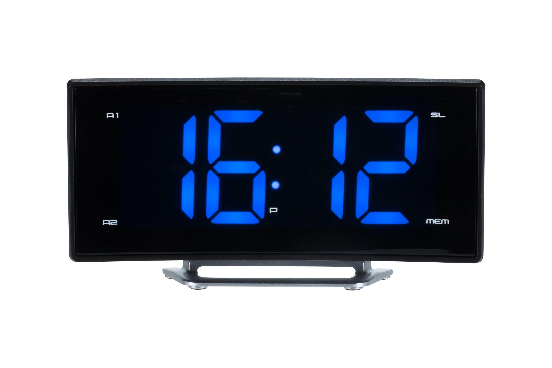 radiowecker ukw radio mit projektion und jumbo display 2. Black Bedroom Furniture Sets. Home Design Ideas