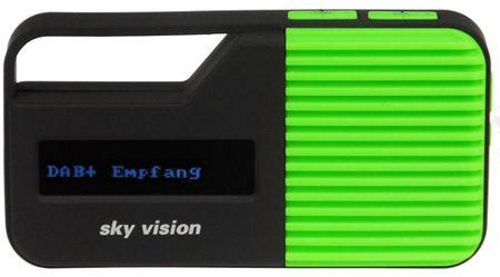 DAB+ digital Radio / UKW Mini Radio mit automatischem Sendersuchlauf, Akku und Taschenlampe sky vision DAB-10 grün günstig online kaufen