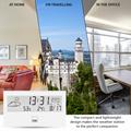 Wetterstation mit Innemperartur, Luftfeuchtigkeit, Uhr und Wecker CTC WSU 7022 weiss