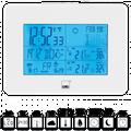 Wetterstation mit Außensensor, Funkuhr und Wettervorhersage CTC WSU 7026 weiss