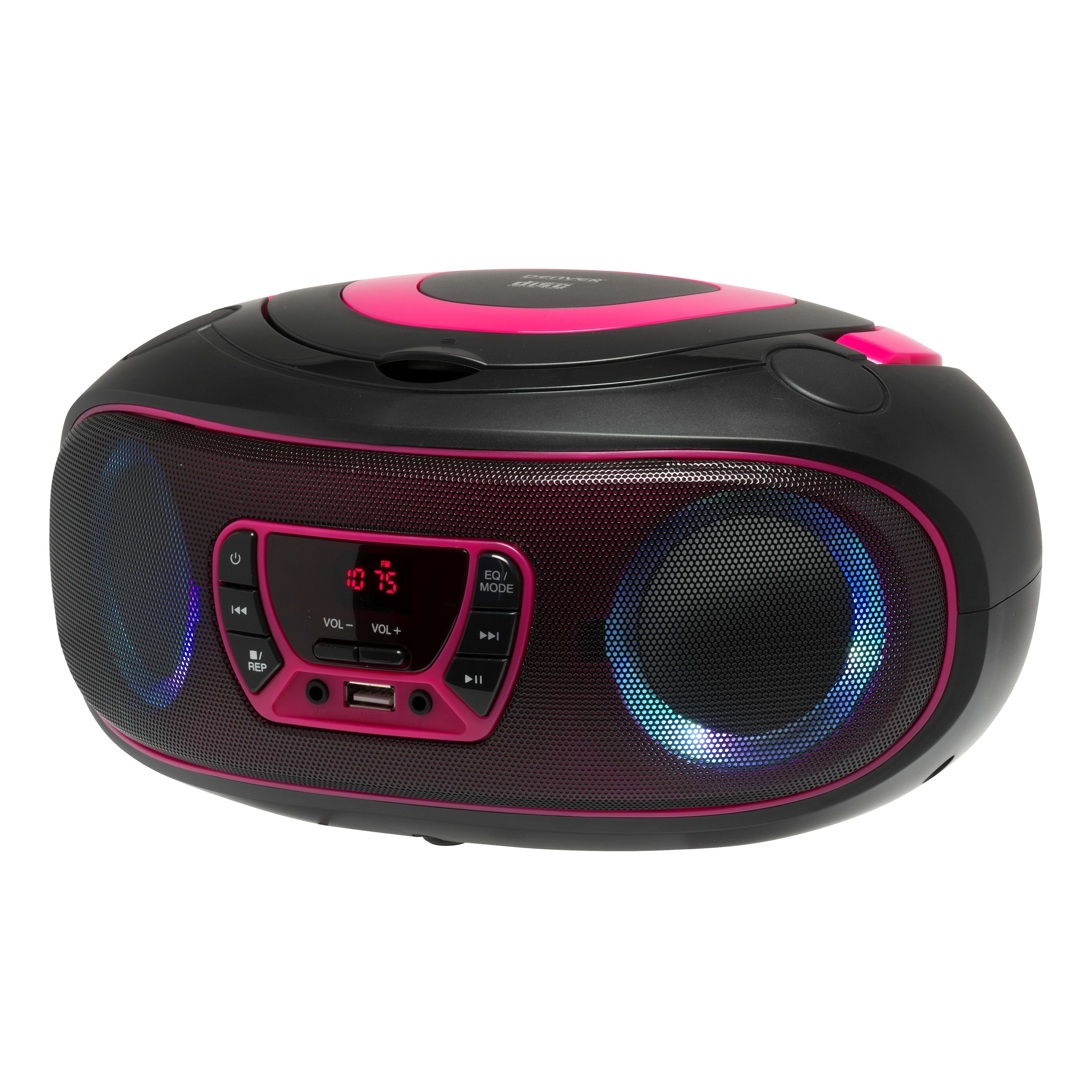 boombox mit cd player radio usb bluetooth mp3 aux denver. Black Bedroom Furniture Sets. Home Design Ideas