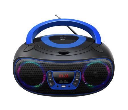 CD-Player mit Discolicht Radio USB Bluetooth MP3 AUX Denver TCL-212BT blau günstig online kaufen