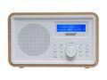 DAB+ Radio mit Aux IN Digitalradio im edlen Holzgehäuse Denver DAB-35 WOOD