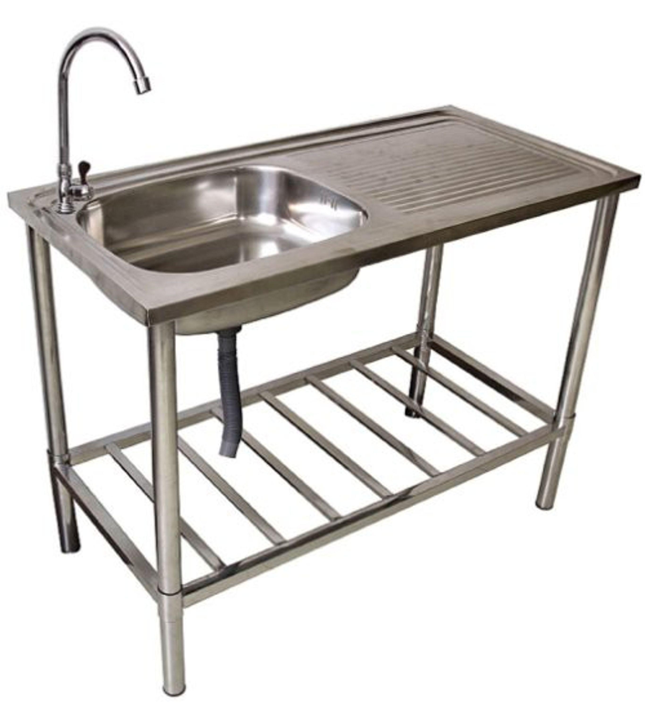 Waschtisch Waschbecken Edelstahl Tisch Fur Aussen Und Gartenbereich