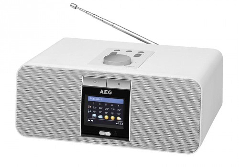 stereoanlage mit internetradio lan wlan webradio bluetooth aeg ir 4468 bt weiss audio hi fi. Black Bedroom Furniture Sets. Home Design Ideas