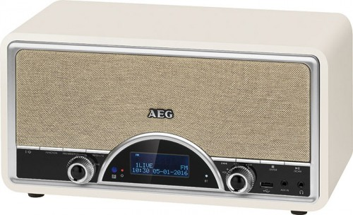stereoanlage mit dab digitalradio bluetooth usb aux in retro radio aeg ndr 4378 creme audio. Black Bedroom Furniture Sets. Home Design Ideas