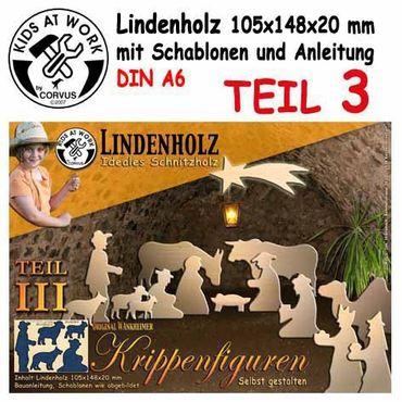 Schnitzholz Krippe T3 Hirten