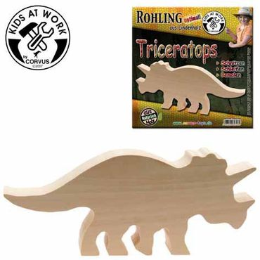Holzrohling Triceratops