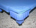 Spannlaken Blau, 140cm 001