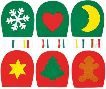 Filz Eierwärmer Weihnachten 6er Set – Bild 1