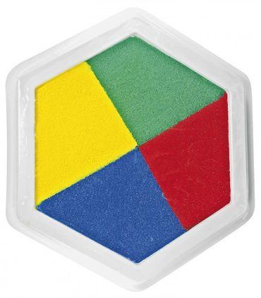 Riesenstempelkissen, Multicolor 4 farbig