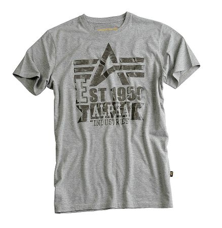 Clear Print T-Shirt grey heather