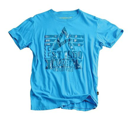 Clear Print T-Shirt grey turquoise