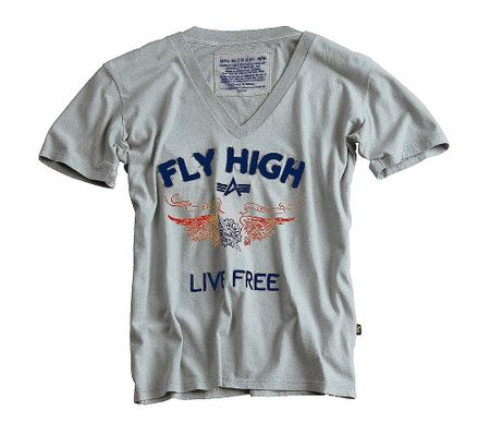 Fly High V-Neck T-Shirt  – Bild 1