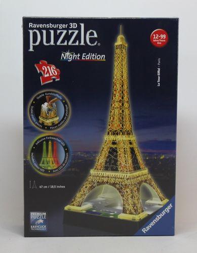 Ravensburger 3D-Puzzle-Bauwerk - Eiffelturm bei Nacht - 216 Teile - Ravensburger 12579 – Bild 1