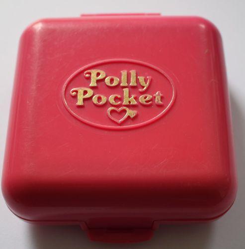 Polly Pocket Dose pink Wasserbahn Fahrteschäft mit Puppe + Bob Bluebird 1989 - (A-D-2) – Bild 2