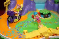 Polly Pocket Cycling Actionpark Radtour mit 1 Fahrrad 1 Puppe  (A-D-2) – Bild 2