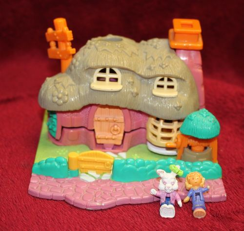 Polly Pocket Rabbit House Kaninchenhaus Animal Wonderland + 2 Figuren 1994  (A-D-2) – Bild 1