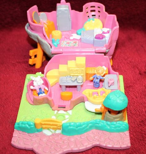 Polly Pocket Rabbit House Kaninchenhaus Animal Wonderland + 2 Figuren 1994  (A-D-2) – Bild 2