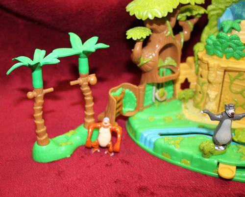 Polly Pocket Dschungelbuch mit 2 Figuren Palmen + Hütte Bluebird Disney 1998 (A-D-4) – Bild 4