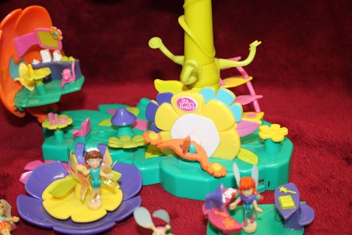 Polly Pocket Blumen Feen Welt Flugschule Flying School Flower Fairies (A-D-4) – Bild 8