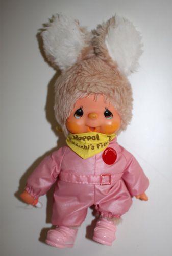 Monchichi Monchhichi Freund Hoppel in rosa Outfit ca. 24 cm – Bild 1