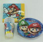 Kindergeburtstag Set Super Mario 32-teilig Pappteller Pappbecher Servietten Party 001