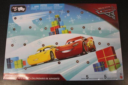 Adventskalender Disney Pixar Cars 3 - 24 Spielteile davon 5 Autos - Mattel FGV14 – Bild 1