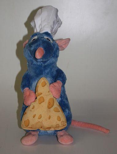 Disney Ratatouille Remy die Ratte ca. 35cm Stofftier mit Käse