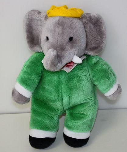 Barbar der Elefant Elefantenkönig König Plüschfigur 30 cm