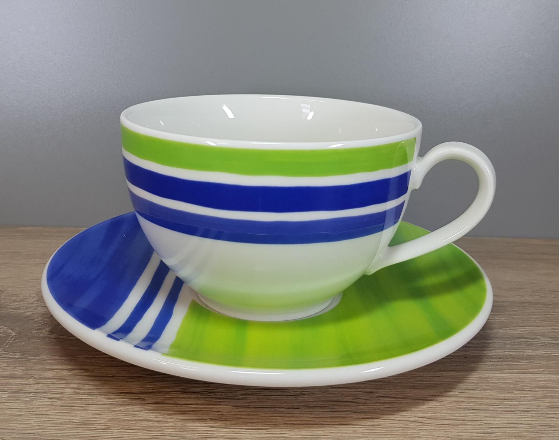 Rosenthal Casual Orchard Henkelbecher blau grün kariert Kaffeetasse