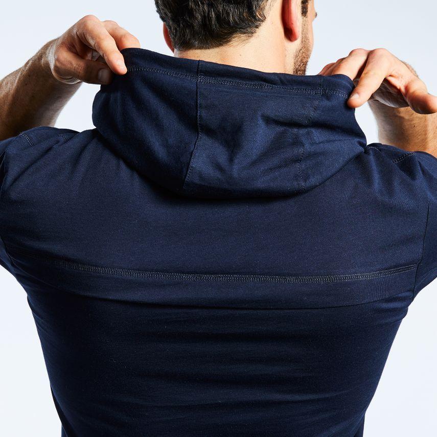 Smilodox Men's Hooded T-Shirt Pressure – Bild 4