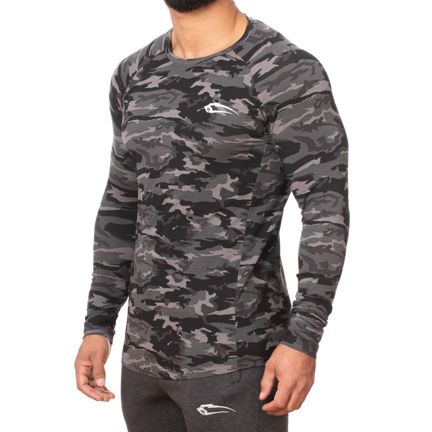 SMILODOX  Slim Fit Longsleeve Men Sport Fitness Gym Training Long Sleeve Shirt – Bild 2