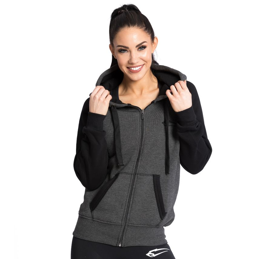 SMILODOX  Zip Hoodie Women Sports Fitness  Gym Leisure Training Hooded Sweater – Bild 1