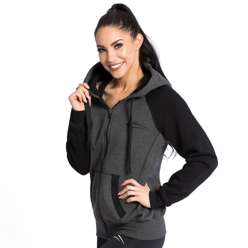 SMILODOX  Zip Hoodie Women Sports Fitness  Gym Leisure Training Hooded Sweater – Bild 3