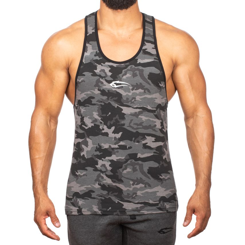 SMILODOX Stringer Men Sports Fitness  Gym Leisure Training Shirt Tank Top – Bild 1